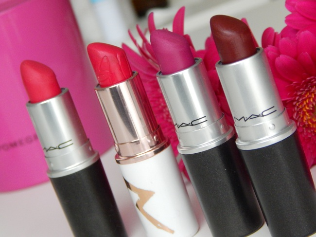 All Fired Up / Pleasure Bomb / Flat Out Fabulous / Fixed On Drama - Mac Retro Matte Collection - BlackHairVelvet