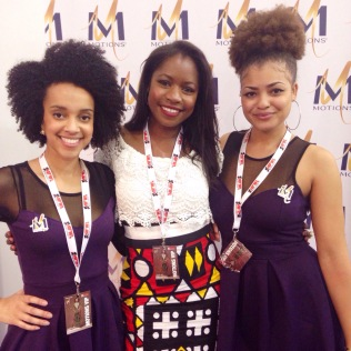 Avec Becky (Brand Manager) et Yolanda (Ambassadrice)